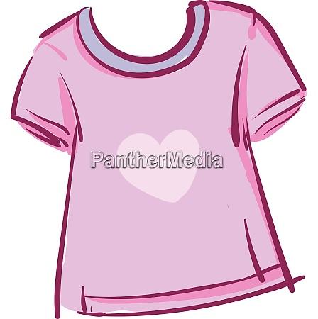 a pink heart t shirt vector