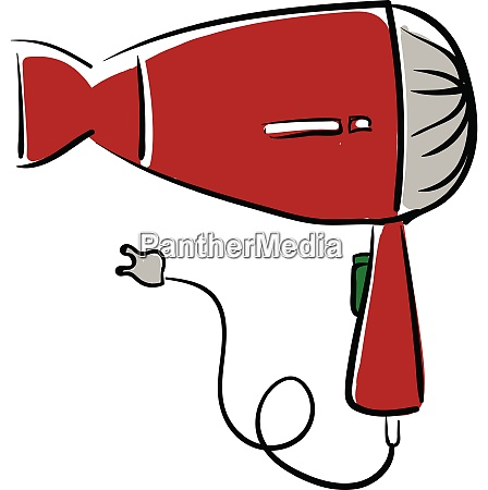 a big red hair dryer vector