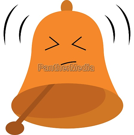emoji of a brown bell vector