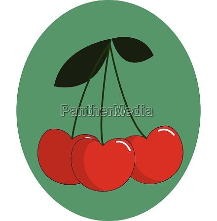 portrait of a bunch of cherries