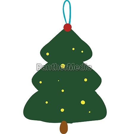 spruce tree xmas hanging toy for