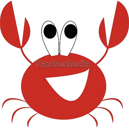 a laughing red crayfish vector or