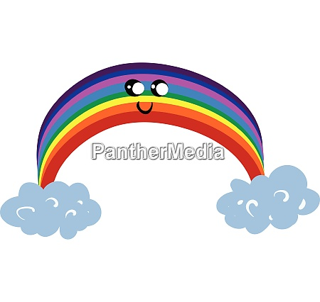 emoji of a cute rainbow vector
