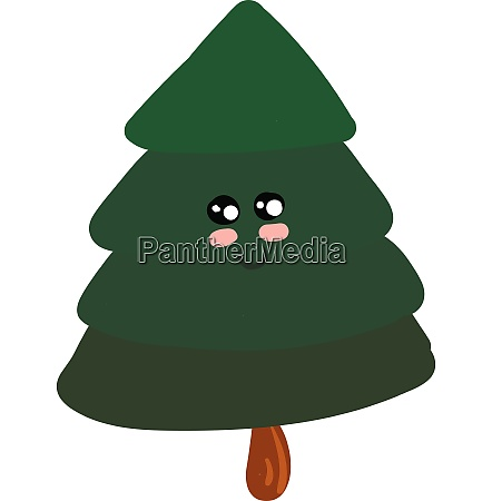 emoji of a cute spruce tree
