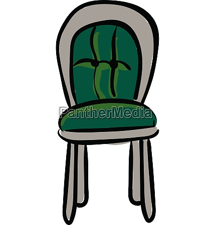 clipart of a green colored chair