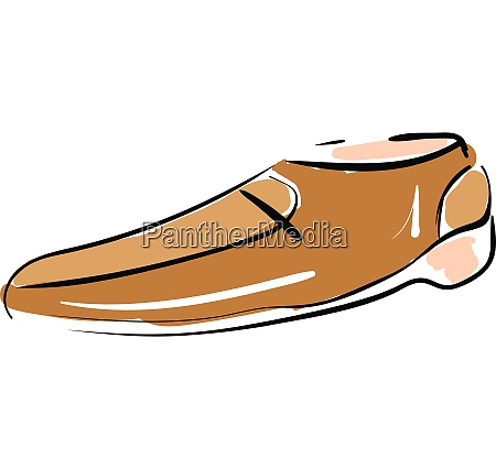 sketch drawing of a mens shoe