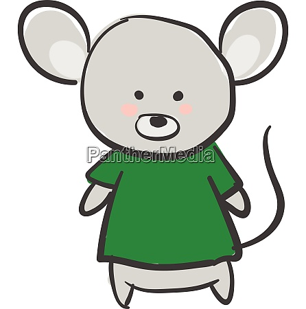 drawing of a grey mouse in