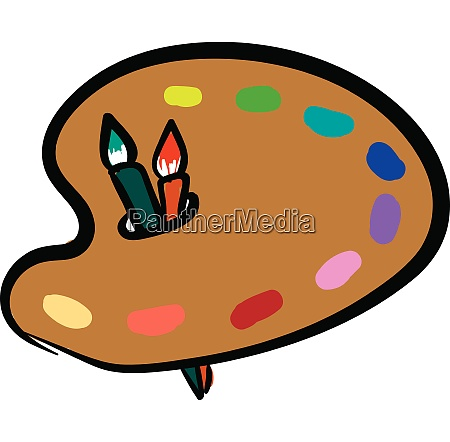 cartoon picture of a palette holding