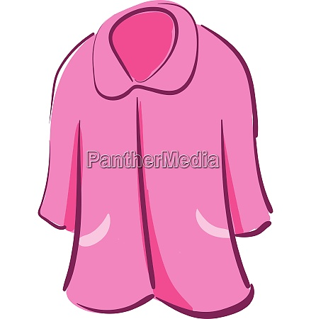 clipart of a showcase pink colored