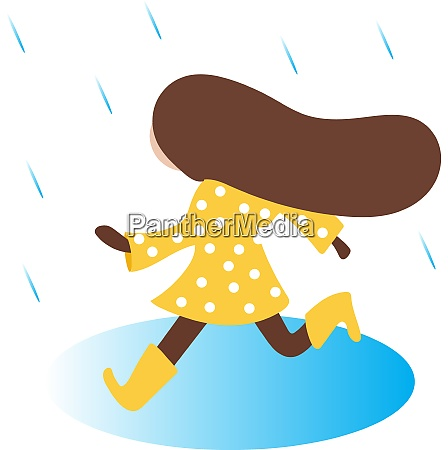 clipart of a small girl running