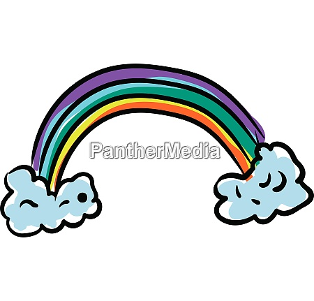 clipart of a colorful rainbow vector