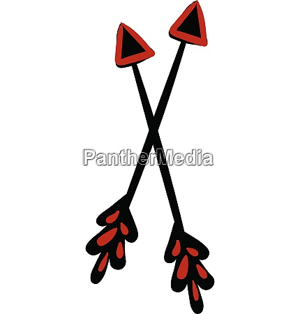 clipart of a pair of crossed