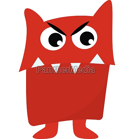clipart of a red angry monster