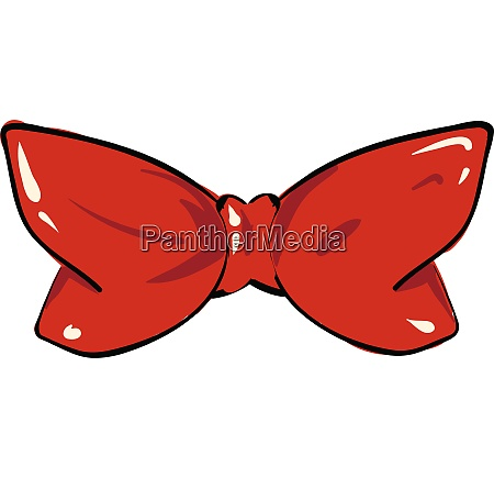 clipart of a red string bow