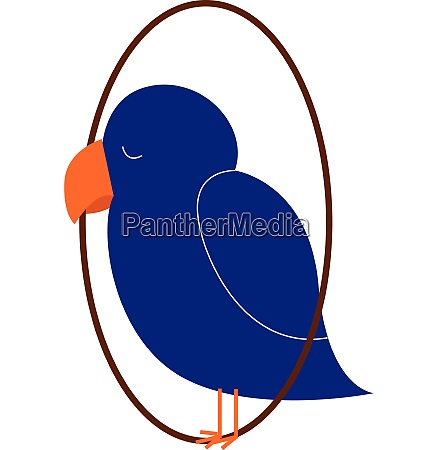 clipart of a blue colored sleeping
