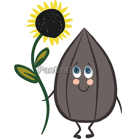 emoji of a smiling seed holding