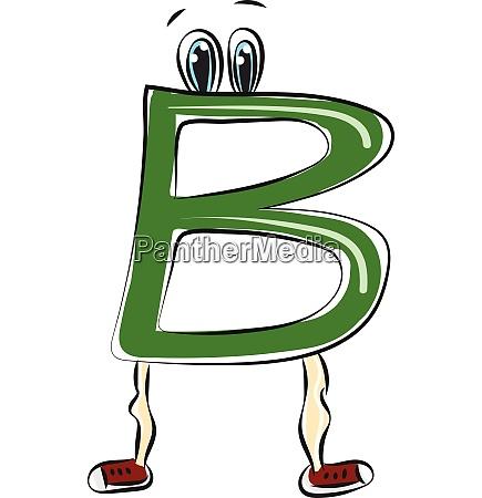 letter b alphabet emoji vector or