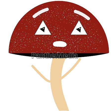 emoji of a tired mushroom vector