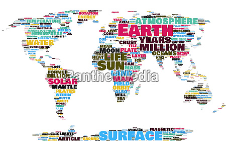earth map word cloud