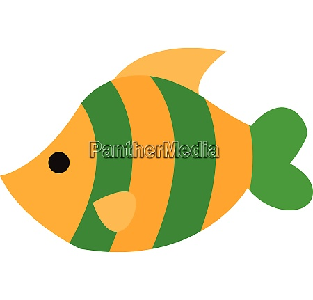 clipart of a beautiful yellow fish