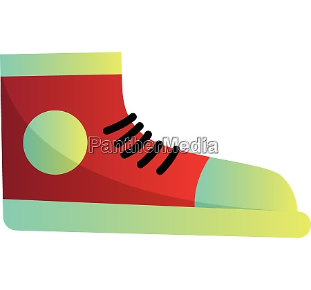 red converse sneaker vector illustration on