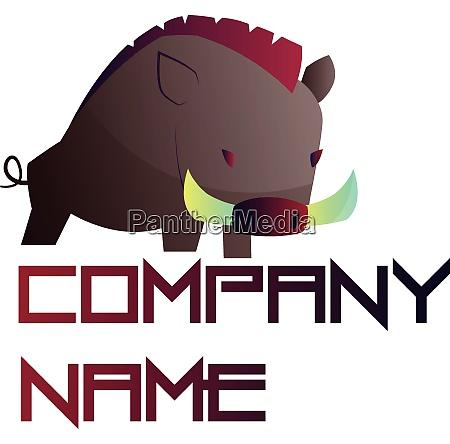 simple vector logo design of a
