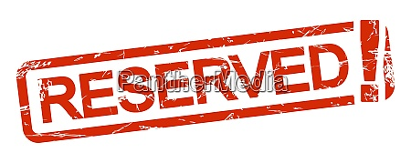 red stamp reserved