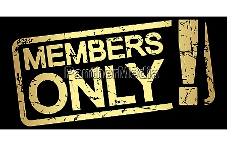 gold stamp members only