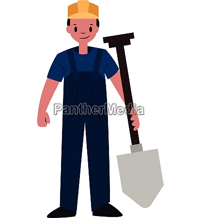builder chracter vector illustration on a