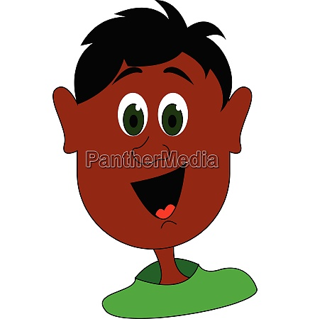 smiling boy vector or color illustration