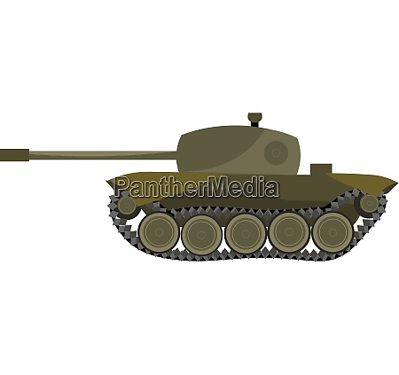 a heavy tank vector or color