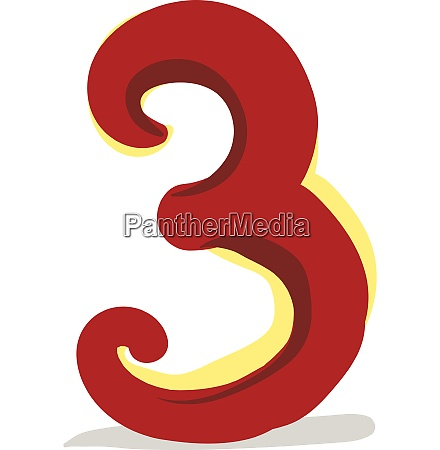clipart of the numerical number three