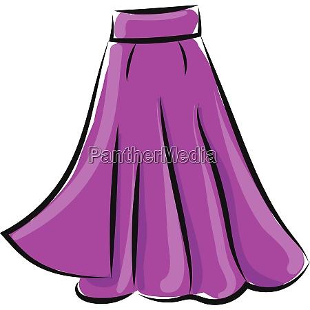 clipart of a showcase purple colored