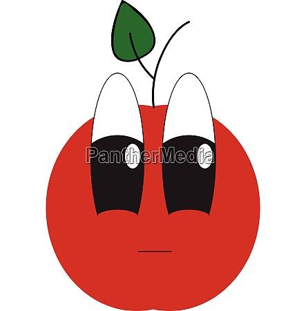 emoji of an upset apple vector