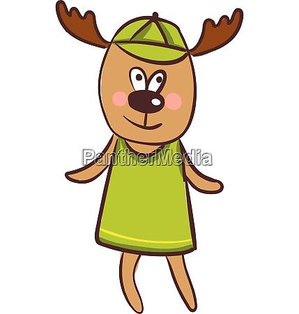 cartoon funny happy deer vector or
