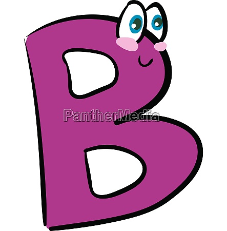 happy letter b alphabet emoji vector
