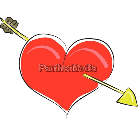 clipart of a red heart struck