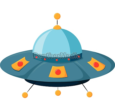 blue ufo vector or color