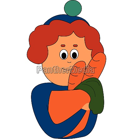 boy with bread vector or