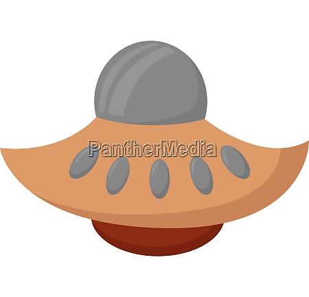 brown ufo vector or color