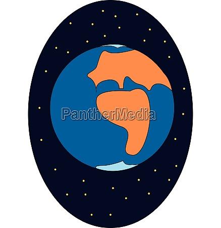 earth hand drawn design illustration vector
