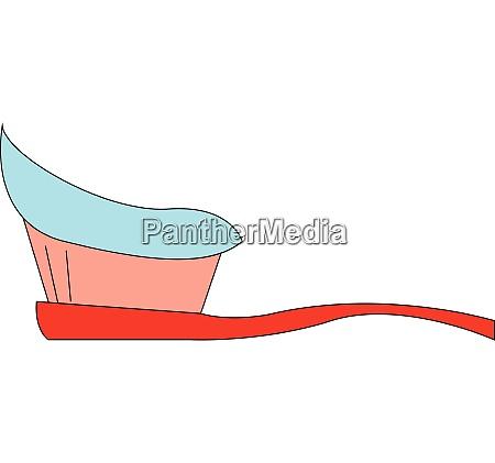 toothbrush hand drawn design illustration vector