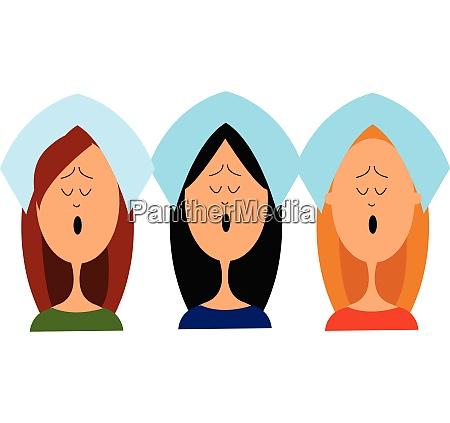 female choir vector or color