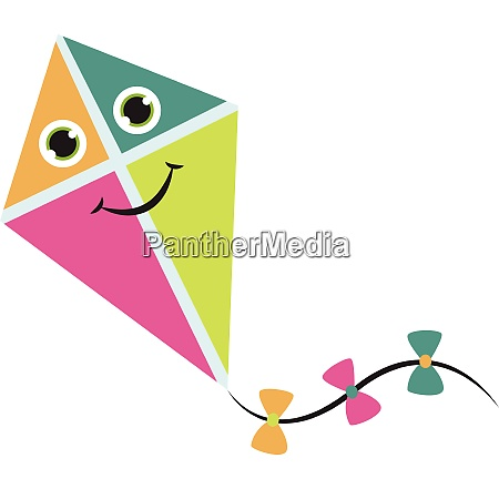 colourful kite vector or color