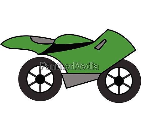 bikemotorbikecyclegreen motorcycle vector or color illustration