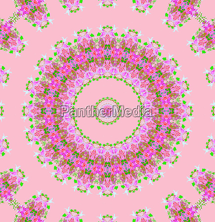 abstract round floral ornament violet purple