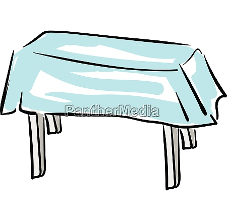 child drawing of a wooden table