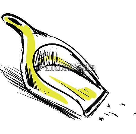 sketch of a yellow dustpan vector