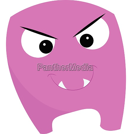 an angry purple monster vector or