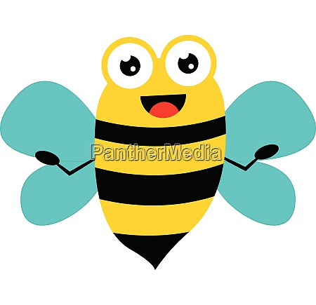 a happy bee vector or color
